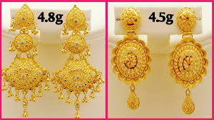 Long Heavy Earrings Design