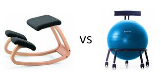 kneeling chair vs yoga ball chair