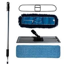 nine forty industrial mercial hardwood floor dust mop broom cleaning set microfiber flat wet