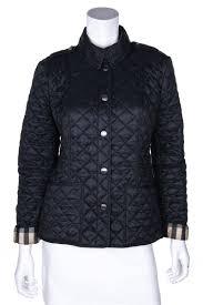 Buy Designer Coat Burberry Brit Black Nylon Quilted Jacket Size M Uk 12