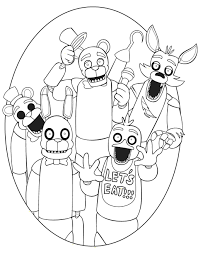 Five Nights At Freddys Coloring Pages Images Of Goku And Gohan In