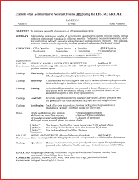 Resume Administrative Assistant Objective Resume Work Template