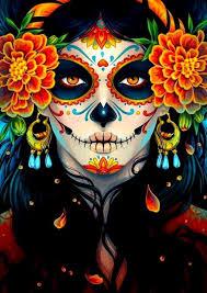 mexican sugar skull celebrate day of the dead