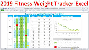 Track Progress In Excel Fitness Tracker And Weight Loss Tracker For 2019 Workout Planner Weight Tracker Excel Template