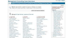 10 best websites you should follow for interview questions and answers as the says everything this website provides interview questions for those who are interested in getting into management consulting
