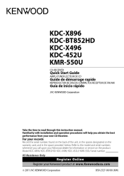 kenwood kdc bt852hd manual kenwood kdc bt852hd quick start guide