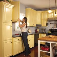 kitchens with painted cabinetscream colored kitchen cabinets Yellow Painted Kitchen Cabinets