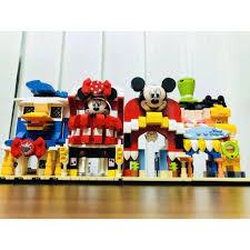 Đồ chơi lắp rắp Lego Disney SY6800 Combo Cửa Hàng của chú chó Pluto, chuột  Mickey, chuột Minnie và vịt Donald giảm chỉ còn 250,000 đ
