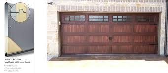 wood garage door. Wooden Look Wood Garage Door