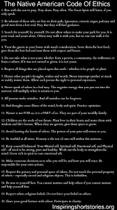 best native american spirituality ideas the native american code of ethics inspiring short stories