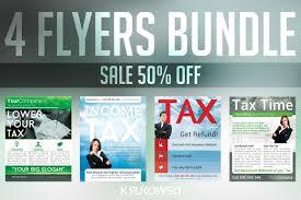 investment flyer photos graphics fonts themes templates tax service flyers bundle