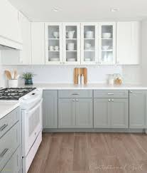 Awesome Gray Bottom Cabinets White Top Cabinets Home Decorations