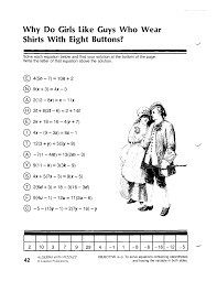mathheets solving multi step equationsheet doc answer key 8th grade pre algebra with fractions multiple generator