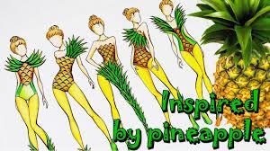 рисуем эскизы одежды вдохновение фруктами Speedpaint Fashion Illustration