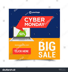 Cyber Monday Sales Banner Ads Web Stock ...