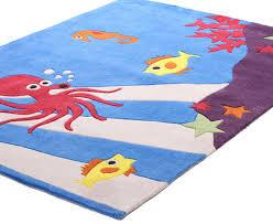 creative kids 165 x 115cm under the under the sea rug