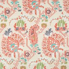 Small Picture Coral Upholstery Fabric Modern Aqua Orange Abstract Home