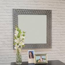 marley square antique pewter decorative wall mirror