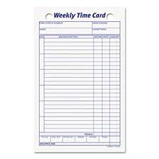 Timecard Ca Top3016 Employee Time Card Amazon Ca Office Products