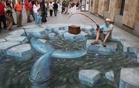 Fishing 3d Sidewalk Chalk Art Nguyen Tan Tin Flickr