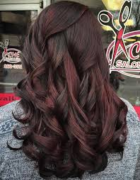 Black Hair With Subtle Red Highlights