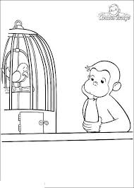 Free Curious George Coloring Pages And Bird Get Coloring Page