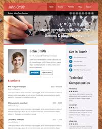 Personal Resume Website Html Resume Cv Website Templates Online Examples Popular Free 50