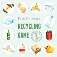 Printable Recycling Game Home School Nature Games Activities