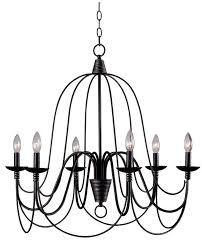 sympathetic bennington candle style 6 light chandelier