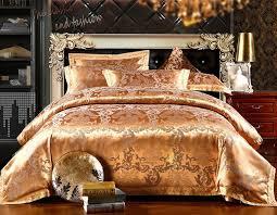 spring gold bedding sets new arrival 4pc quilt cover unique duvet cover set queen bed