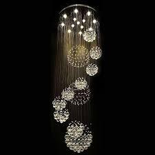 new modern re crystal ball design chandelier large res de cristal lights d80 h300cm guarantee 100 led bulbs paper chandelier linear chandelier