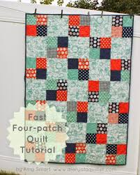 40 Easy Quilt Patterns For The Newbie Quilter & Fast Four Patch Quilt Tutorial Adamdwight.com