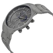 skagen balder chronograph grey dial titanium bracelet mens watch item specifics