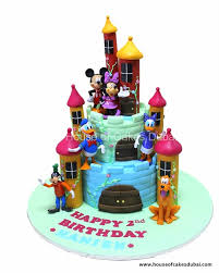 Mickey Mouse And Friends Castle Cake