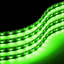 Green Led Light Strips Delectable Zone Tech 60cm LED Car Flexible Waterproof Light Strip GREEN Pack Of