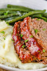 meat loaf with red wine glaze