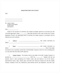 Gallery Of Letter Intent To Purchase Commercial Real Estate Simple ...