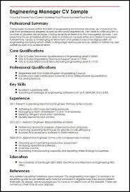 Assistant Project Manager Resume Job Description Engineering Manager Cv Sample Myperfectcv Project