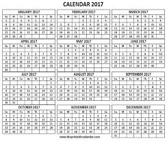 Printable 2017 Calendar Printable 24 Calendar One Page 24 Month Calendar 24