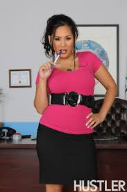 Major titted Japanese business woman Jessica Bangkok in pink.