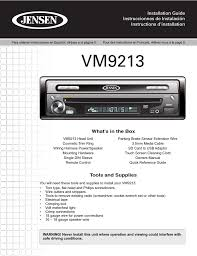 jensen vm9213 wiring harness diagram 16p jensen automotive jensen vm9213 user manual 12 pages description jensen vm wiring harness