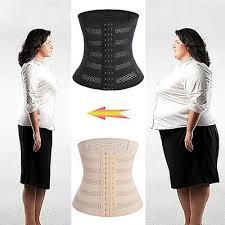 Body Shaper Slim Waist Trainer Cincher Tummy Belly Control Belt Corset Shapewear Ebay