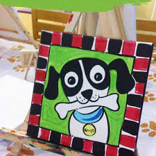canvas painting party at home best of puppy p art y a canvas painting party