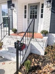 Aluminum stair railing black hand base rail kit handrail outdoor deck diy. How To Repurpose Exterior Iron Stair Railings Noting Grace