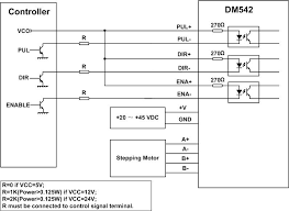 leadshine dm542 digital stepper driver 20 50 vdc 1 0 4 2a view typical connection