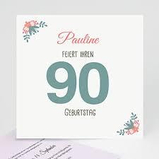 Einladungskarten 90 Geburtstag Cartelandde