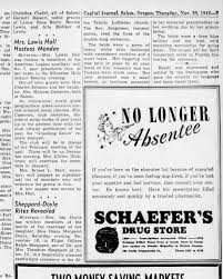 Diana and Ralph Sheppard wedding Capital Journal, Salem 30 Nov 44 -  Newspapers.com