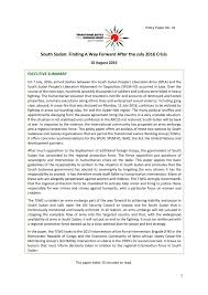 south sudan finding a way forward after the crisis  south sudan finding a way forward after the 2016 crisis south sudan reliefweb