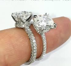 Engagement Ring Band Styles Three Row Pave Vs Single Row Blog