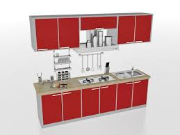 3ds max kitchen design. straight line kitchen designs red design 3d model 3ds max files free best images